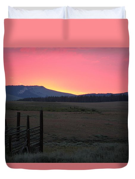 Big Horn Sunrise Duvet Cover