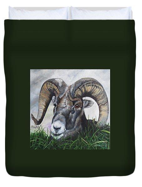 Big Horned Sheep Duvet Cover