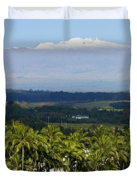 Big Island, Hilo Bay Duvet Cover by Ron Dahlquist - Printscapes