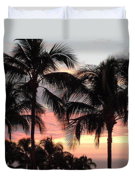 Big Island Sunset 1 Duvet Cover by Karen J Shine