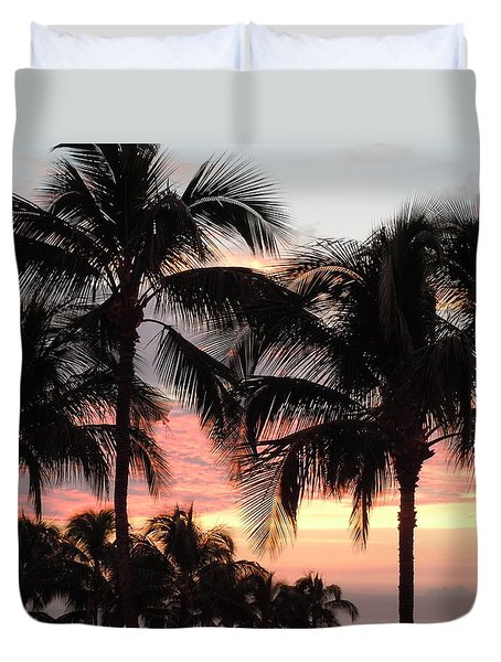 Big Island Sunset 1 Duvet Cover