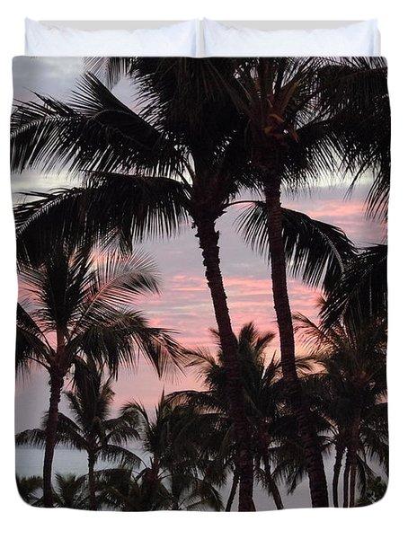 Big Island Sunset 2 Duvet Cover