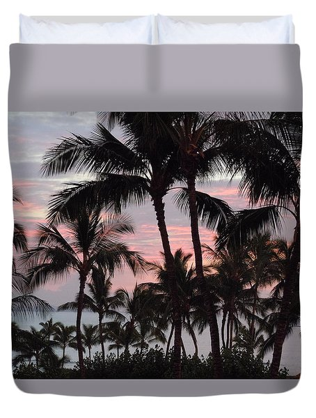 Big Island Sunset 2 Duvet Cover