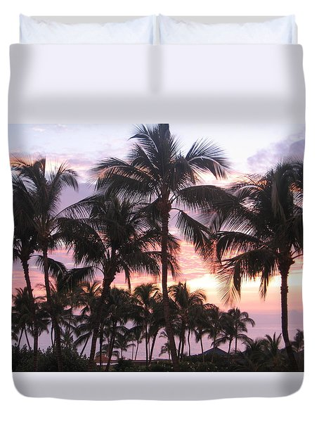 Big Island Sunset 3 Duvet Cover