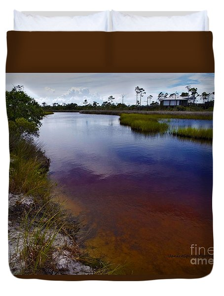 Duvet Cover featuring the photograph Big Lagoon by Janice Spivey