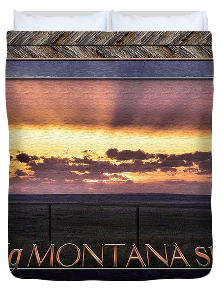 Duvet Cover featuring the photograph Big Montana Sky by Susan Kinney