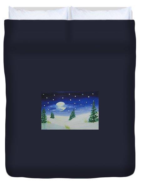Big Moon Christmas Duvet Cover