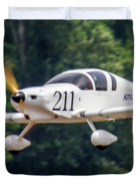 Big Muddy Air Race Number 390 Duvet Cover