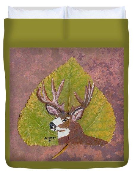 Big Mule Deer Buck Duvet Cover
