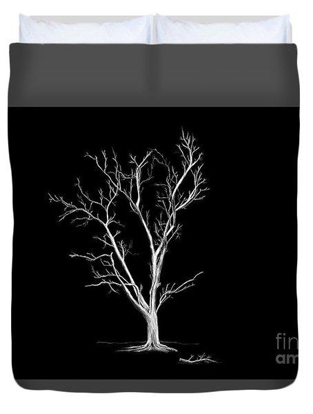 Big Old Leafless Tree Duvet Cover