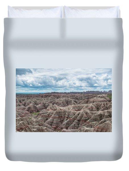 Big Overlook Badlands National Park  Duvet Cover