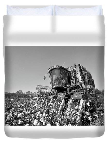 Big Picker In Black And White Duvet Cover