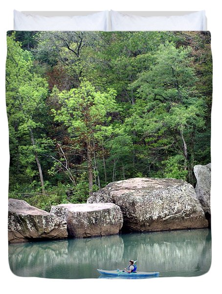Big Piney Creek 1 Duvet Cover by Marty Koch