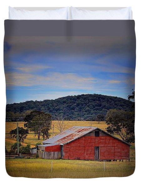 Big Red Barn Duvet Cover by Wallaroo Images