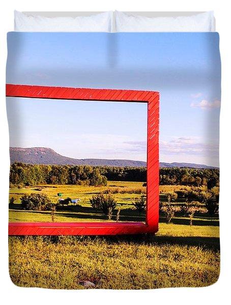 Big Red Frame Easthampton Duvet Cover