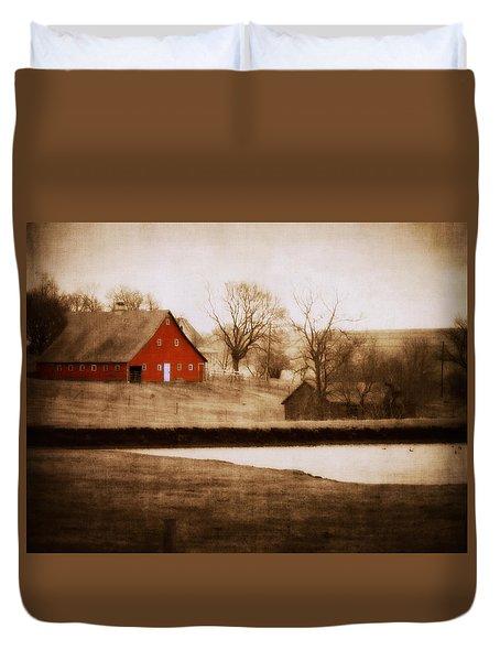 Big Red Duvet Cover by Julie Hamilton