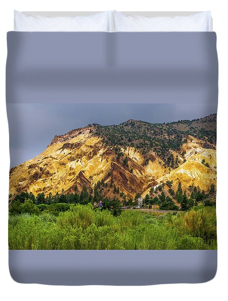 Duvet Cover featuring the photograph Big Rock Candy Mountain by TL Mair