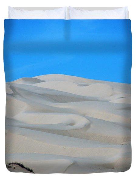 Big Sand Dunes In Ca Duvet Cover by Susanne Van Hulst