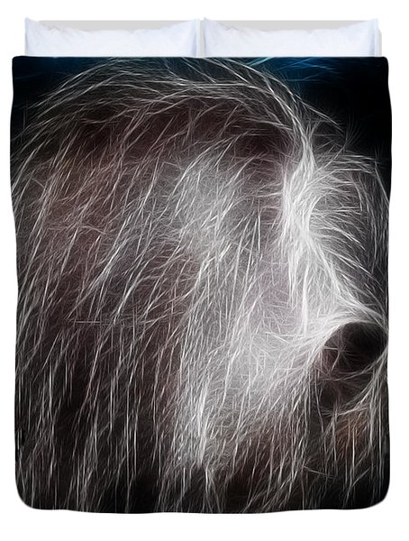 Big Shaggy Dog Duvet Cover by EricaMaxine  Price