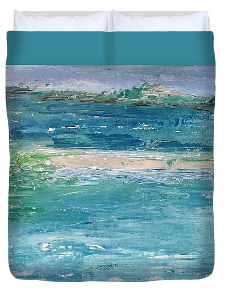 Big Shell Island Duvet Cover