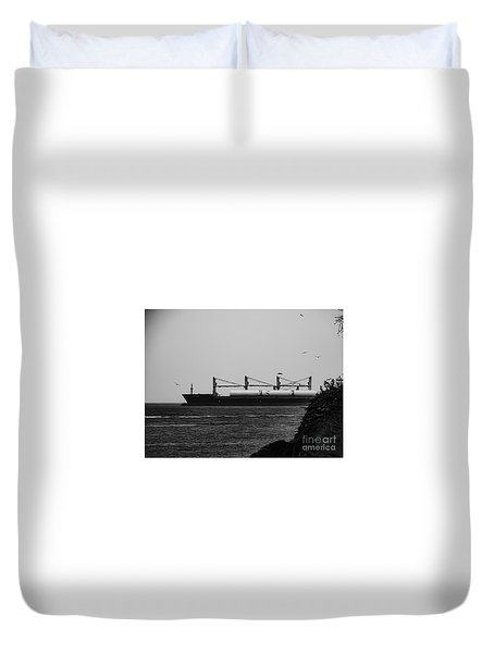 Big Ship Duvet Cover