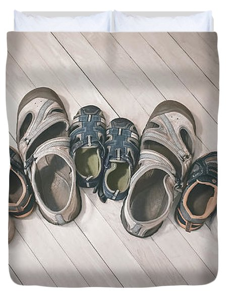 Big Shoes To Fill Duvet Cover
