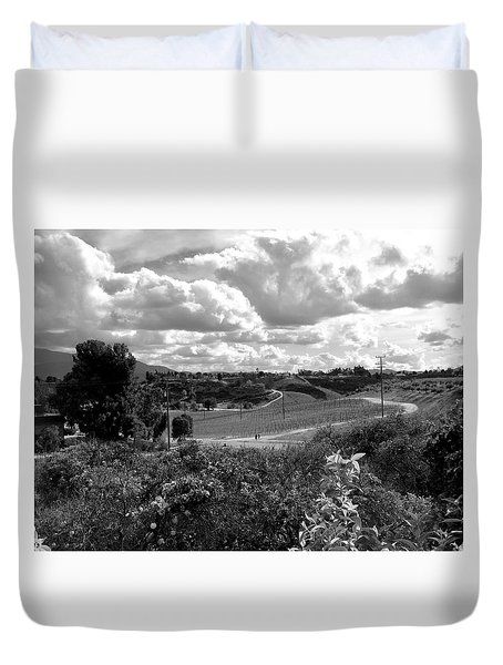 Big Sky In Socal Duvet Cover by Russell Keating