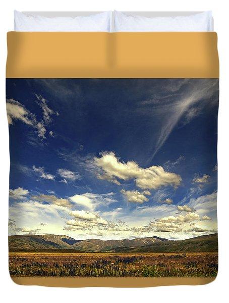 Big Sky Near Omarama Otago Duvet Cover