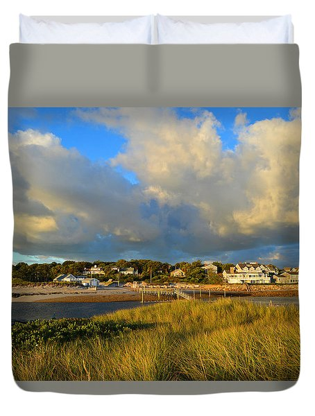 Big Sky Over Sesuit Harbor Duvet Cover