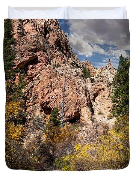 Big Spring In Sheep Creek Canyon Duvet Cover