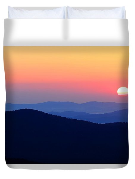 Big Sunrise Off Blue Ridge Parkway Duvet Cover