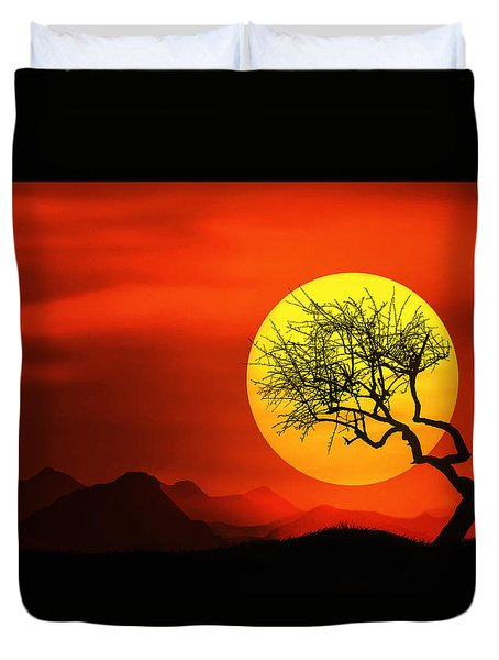 Big Sunset Duvet Cover
