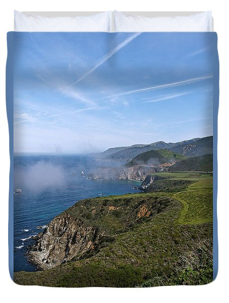 Big Sur Coastline Duvet Cover by Michele Myers
