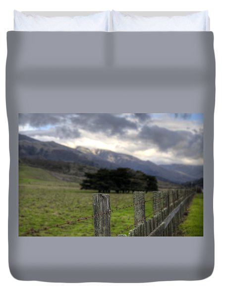 Big Sur Fence Line Duvet Cover