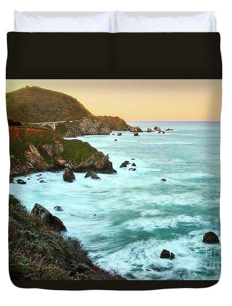 Big Sur Sunrise Duvet Cover