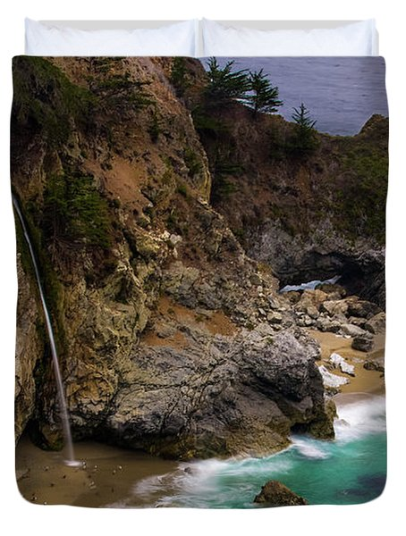Big Sur Waterfall Duvet Cover