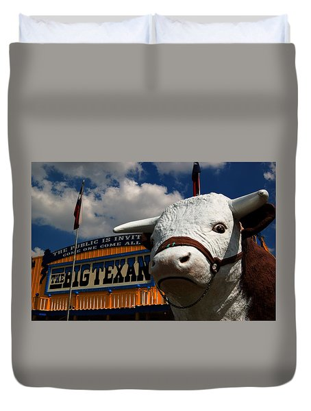 Duvet Cover featuring the photograph Big Texan Steak Ranch 2 by Bob Pardue