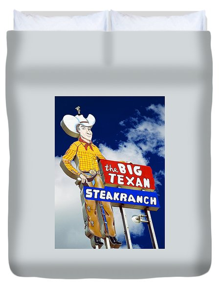 Duvet Cover featuring the photograph Big Texan Steak Ranch by Bob Pardue
