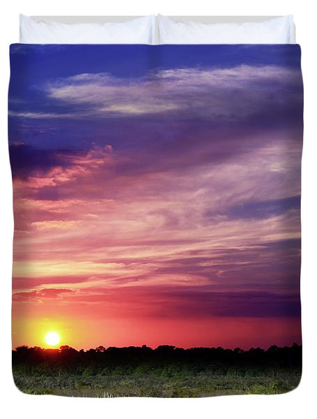 Big Texas Sky Duvet Cover