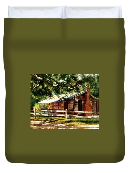 Big Thicket Information Center_the Staley Cabin Duvet Cover