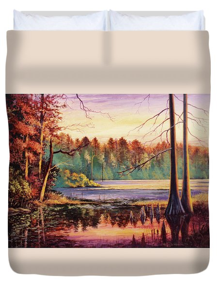 Big Thicket Swamp Duvet Cover