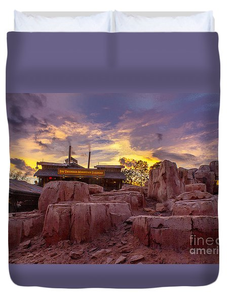 Big Thunder Mountain Sunset Duvet Cover