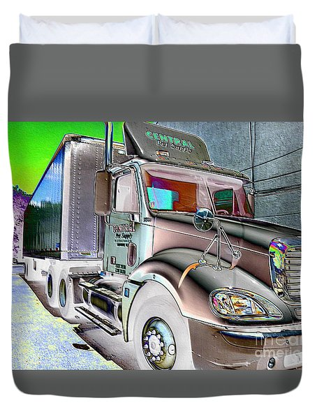 Big Truck Duvet Cover