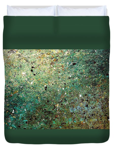 Duvet Cover featuring the painting Big Universe - Abstract Art by Carmen Guedez