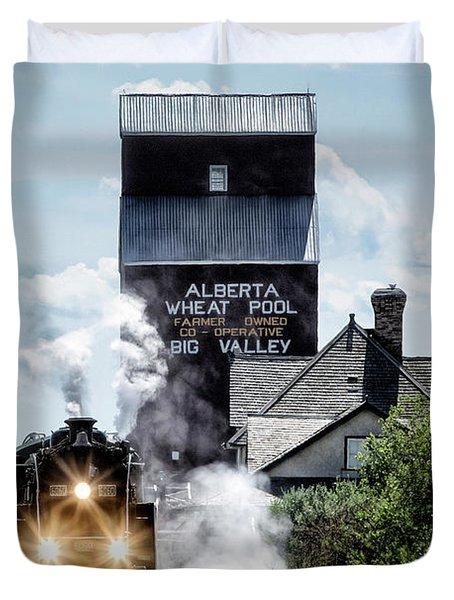 Big Valley Steam Duvet Cover