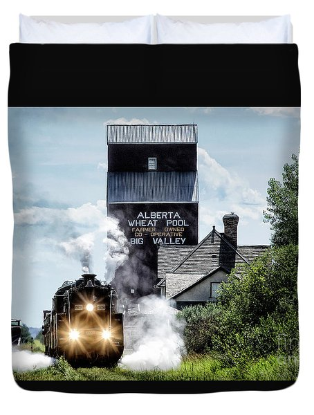 Big Valley Steam Duvet Cover