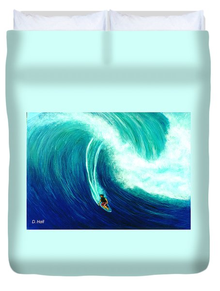 Big Wave North Shore Oahu #285 Duvet Cover by Donald k Hall