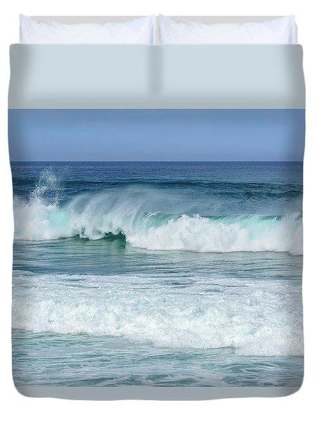 Big Waves Duvet Cover