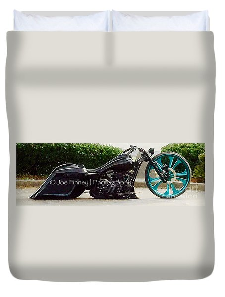 Duvet Cover featuring the photograph Big Wheel - No.1215 by Joe Finney