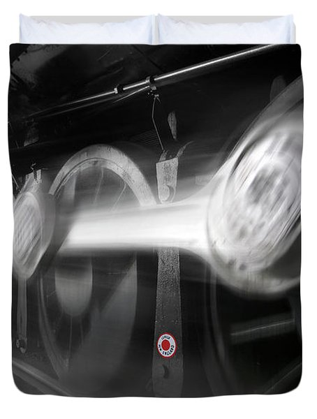 Big Wheels In Motion Duvet Cover by Mike McGlothlen
